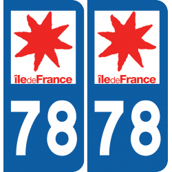 Sticker Département 78
