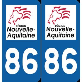 Sticker Département 86
