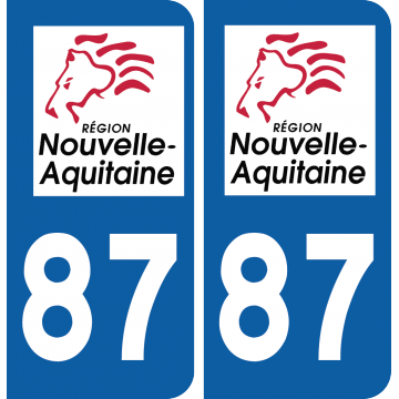 Sticker Département 87