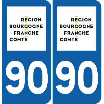 Sticker Département 90