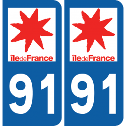 Sticker Département 91