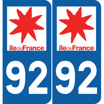 Sticker Département 92