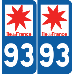 Sticker Département 93