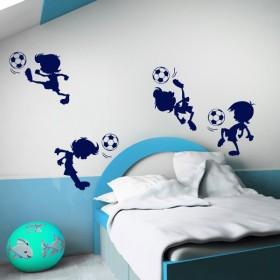 Sticker Footballeurs cartoons x4