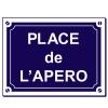Sticker Place de l'apero