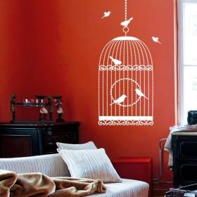 Sticker Cage aux oiseaux