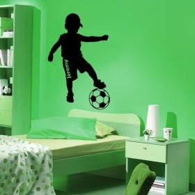 Sticker Personnalisable Petit Footballeur